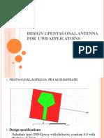 Pentagonal Antenna for UWB antenna