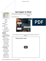 Brazing Copper to Steel