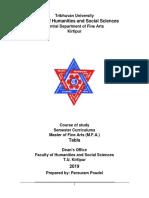 Syllabus of Masters in Tabla TU 2019
