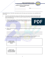 Home Activity Worksheet English 10