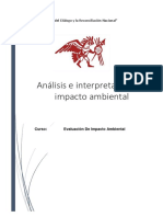 Semana 7 Analisis e Interpretacion Impacto Ambiental