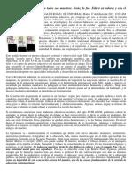 Elogio Al Maestro. Articulo de Reinaldo Rojas. El Universal