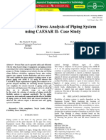 Flexibility and Stress Analysis of Piping System Using Caesar II Case Study IJERTV3IS060582