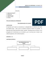 MÓDULOS DE APRENDIZAJE - IV CICLO (3°, 4°)