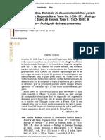José Toribio Medina, Colección de Documentos Inéditos Para La Historia de Chile