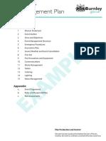 Sample Event Management Plan