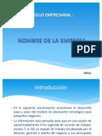 Desarrollo de las etapas modelo planeación