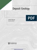 4_OreOre Deposit Geology [John Ridley, 2013]