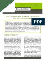 Policy Brief - GIRS con Inclusión Social
