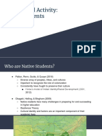 experiential activity  native students