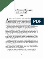 Meyer Schapiro Further Notes on Heidegger and Van Gogh 1994