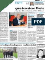 L'Unilit Inaugura i corsi con Pivato - Resto del Carlino del 2 novembre 2011