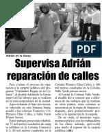 20-04-19 Supervisa Adrián reparación de calles