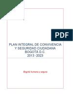 PLAN INTEGRAL DE CONVIVENCIA Y SEGURIDAD CIUDADANA BOGOTÁ D.C.  2013 -2023.pdf