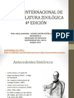1a CLASE Codigo de Nomenclatura Zoologica