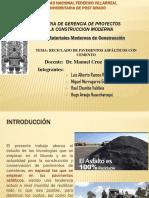 Reciclado de Pavimentos Asfálticos Con Cemento