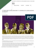 Premio Nobel de Baruj Benacerraf y El Desarrollo de La Ciencia Moderna en Venezuela