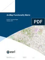 Arcmap Functionality Matrix