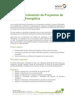 2. Curso de Evaluacion de Proyectos de Eficiencia Energetica