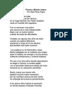 Poema a benito juarez