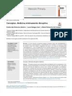 Sobrediagnóstico y sobre tratamiento:medicina mínimannte disruptiva