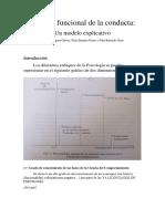 Resumen de M. Segura Análisis Funcional de la Conducta