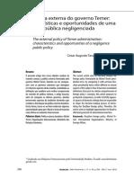 2- OLIVEIRA a Política Externa Do Governo Temer