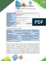Guía de Actividades y Rúbrica de Evaluación - Paso 3 – Propuesta