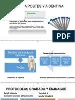 Adhesión a Postes y a Dentina