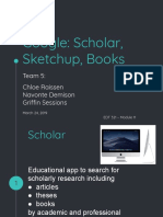 group 5  google scholar sketchup and books