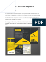 How to Create a Brochure Template in Photoshop
