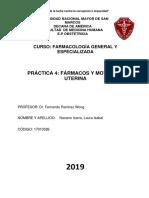 Informe de Practica 4- Farmacología