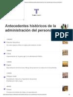 Antecedentes Historicos de La Administracion Del Personal