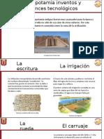 Mesopotamia Inventos y Avances Tecnológicos