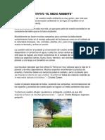 Texto Argumentativo El Medio Ambiente