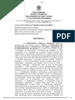 Sentença - Justiça Federal - MPF-SC