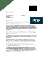 Letter to Mr Scott Morrison Dated 17 September 2009