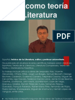 El Materialismo Filosófico Como Teoría de La Literatura
