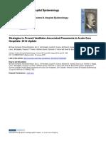 Strategies to Prevent Ventilator-Associated Pneumonia in Acute Care Hospitals