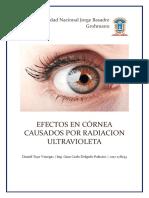 Efectos en Córnea Causados Por Radiacion Ultravioleta