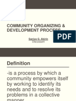 Community Organizing and Devt Process