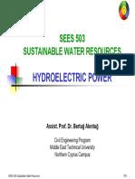 SEES 503 - 10 Hyroelectric Power.pdf