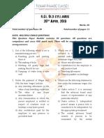 ILGL Question Paper 20th April 2019
