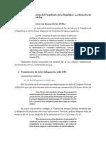 Atribuciones Legislativas Del Presidente de La Republica