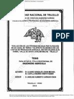 EVALUACION DE LAS PERDIDAS DE AGUA POR INFILTRACION DE UN CANAL DE TIERRA.pdf