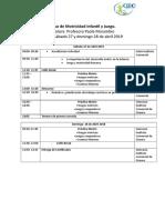 Programa Curso Motricidad Infantil y Juego 2019