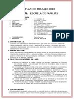 Plan de La Comisión de Escuela de Familias 2018 Doc (1) Ultimo