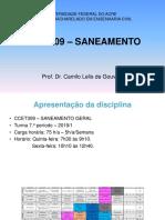Aula 1 - CCET309 - 2019-0314 -Saneamento Geral -  Apresentação do Curso - Conceitos iniciais.pdf