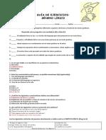 Guía Ejercicios g. Lírico