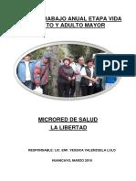 Plan de Trabajo 2018 Adulto Mayor Microred La Libertad